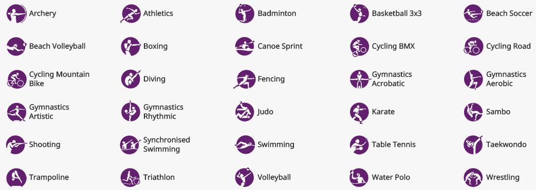 Sportovi na EG Baku 2015.